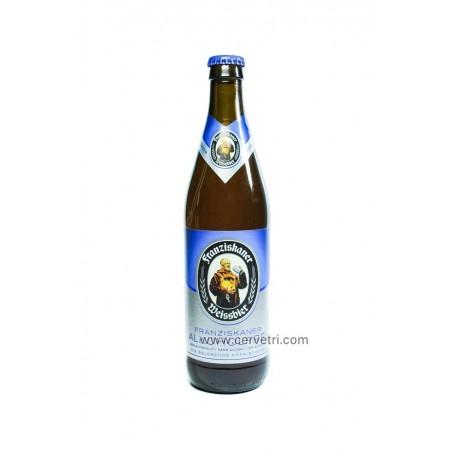 Cerveza marca Franziskaner sin alcohol botella 50 cl