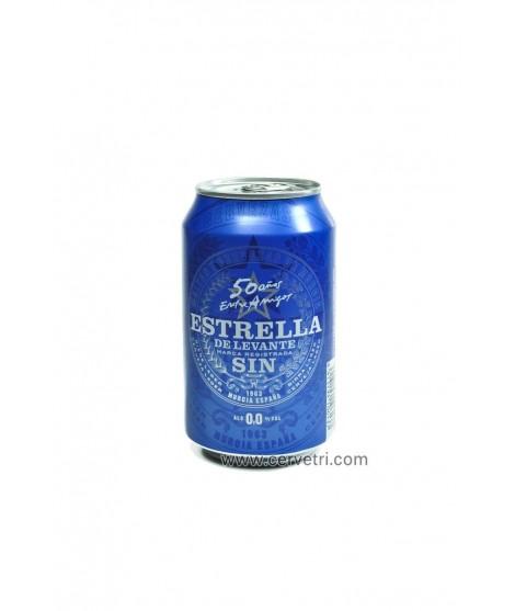 Estrella de levante sin alcohol lata 33 cl