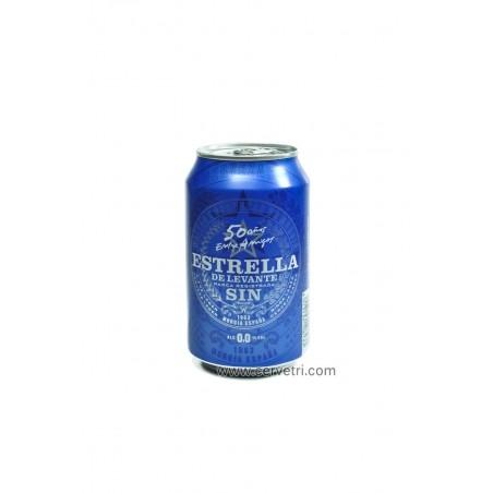 CERVEZA ESTRELLA DE LEVANTE sin alcohol lata 33 cl