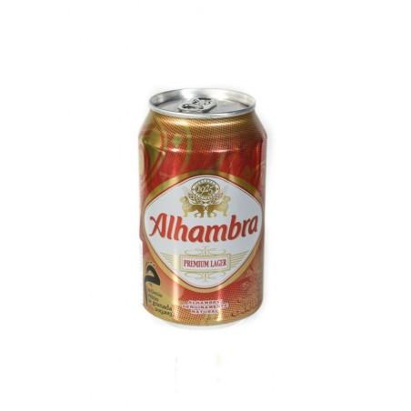 CERVEZA ALHAMBRA premium lager lata 33 cl
