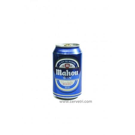 Mahou cerveza sin alcohol lata 33 cl