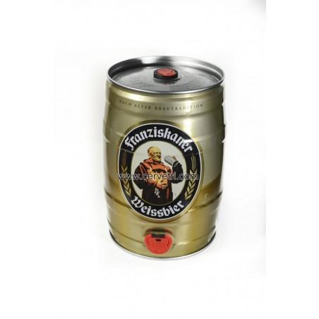 Barril de cerveza Franziskaner naturtrub . Alemana 5 litros