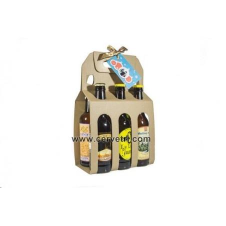 Regalo evento Pack 6 cervezas artesanas varias 33 cl