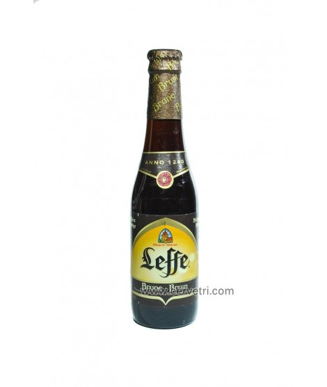 Leffe Brune.  Cerveza negra de abadía, belga, botella 33 cl.