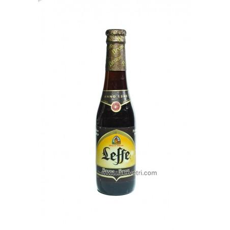 Leffe Brune. Cerveza negra de abadía belga, botella 33 cl.
