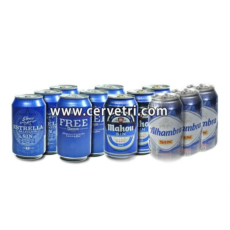 CERVEZAS SIN ALCOHOL EN LATAS 33 CL. ESPAÑA