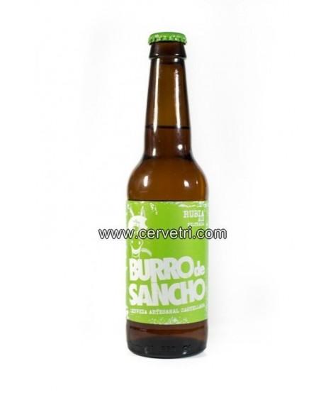 Cerveza artesana Burro de Sancho Rubia 33 cl. Toledo