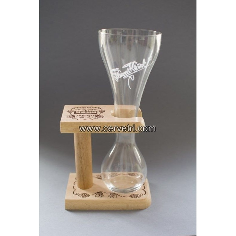 Copa original cerveza Kwak 33 cl. + soporte de madera