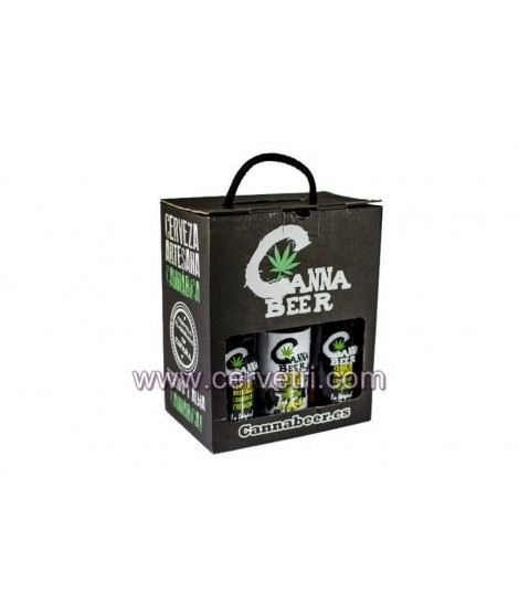 Cerveza Cannabeer Pack 6 botellas 33 cl.