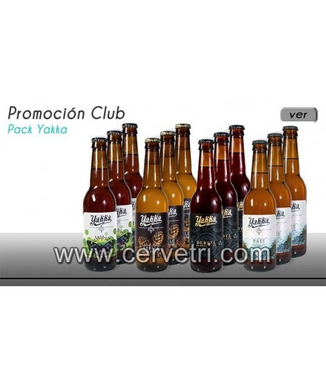 Yakka pack degustación 12 botellas de 33 cl.