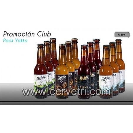 Yakka pack degustación 12 botellas de 33 cl.