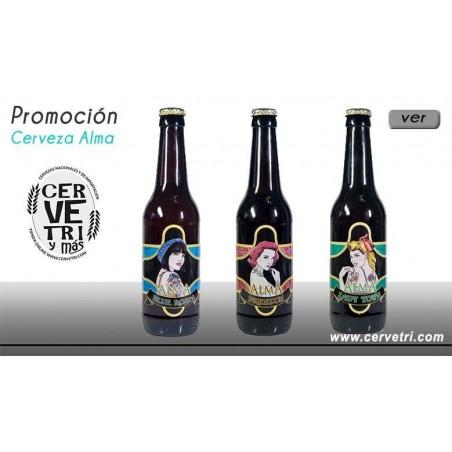 Pack 3 cervezas Alma 33 cl.- Málaga-España