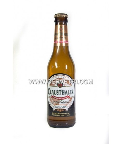 Cerveza sin Alcohol Clausthaler sin filtrar.