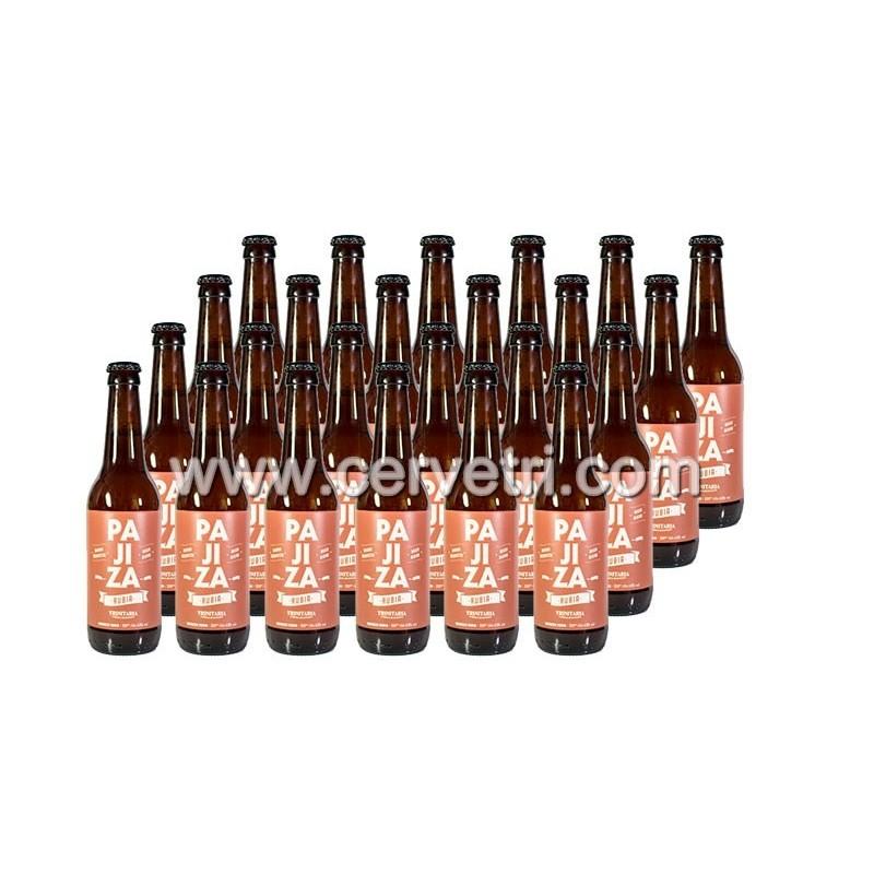 Cerveza artesana Pajiza Rubia 33 cl. Pack 24 Unids.