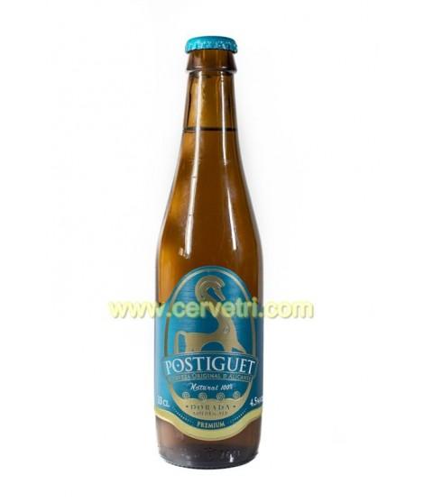 Cerveza Postiguet Dorada 33 cl.