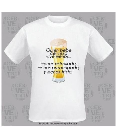 Camiseta Quien bebe cerveza