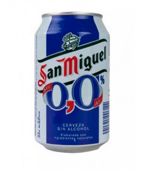 Lata cerveza San Miguel 0,0