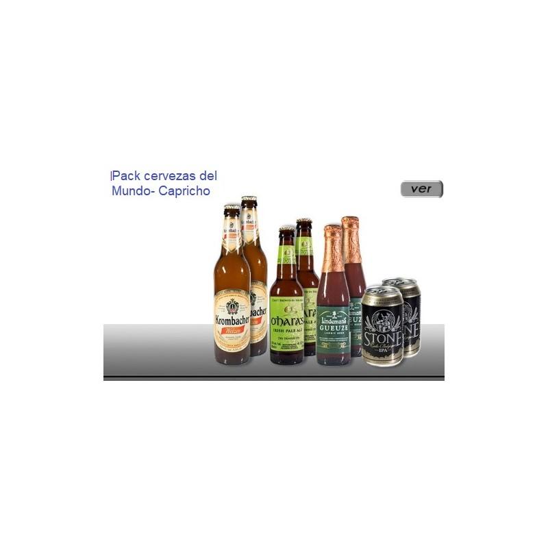 Pack cervezas internacional capricho