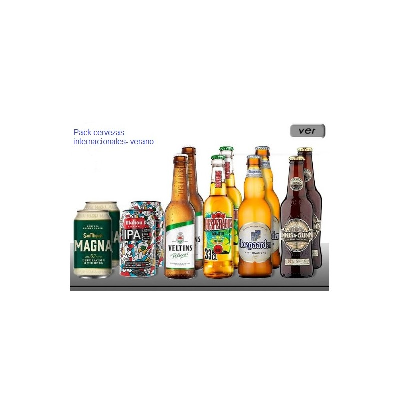 Pack cervezas verano
