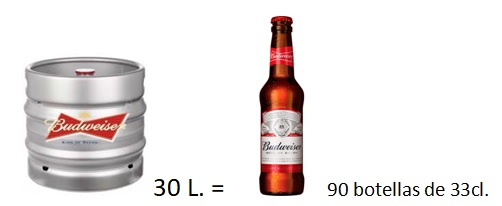 Barril cerveza Bubweiser 30 l.