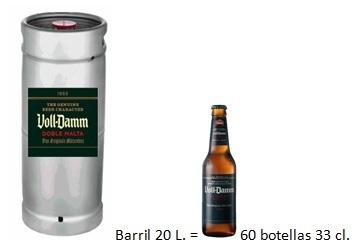 Barril Voll-Damm 20 l.