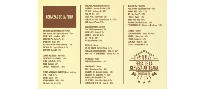III Feria de la Cerveza Artesana Santomera. Murcia